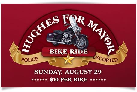 Hughes For Mayor Bike Ride: Sunday, Aug. 29th